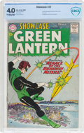 Silver Age (1956-1969):Superhero, Showcase #22 Green Lantern (DC, 1959) CBCS VG 4.0 Off-white towhite pages....