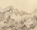 Asian:Chinese, Zhang Zongcang (Chinese, 1686-1756). Album of Ten LandscapePaintings, Qing Dynasty, 18th century. 9-1/2 x 11-3/4 inches...