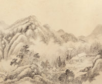 Zhang Zongcang (Chinese, 1686-1756) Album of Ten Landscape Paintings, Qing dynasty, 18th century 9-1