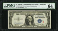 Small Size:Silver Certificates, Fr. 1609 $1 1935A R Silver Certificate. PMG Choice Uncirculated 64.. ...