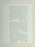 Fine Art - Work on Paper:Print, Chryssa (1933-2013). Gates to Times Square Fragment (2works), 1978-80. Screenprint in colors. 40 x 30-1/2 inches(... (Total: 2 Items)