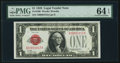 Small Size:Legal Tender Notes, Low Serial Number A00001012A Fr. 1500 $1 1928 Legal Tender Note. PMG Choice Uncirculated 64 EPQ.. ...