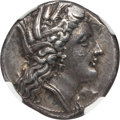 Ancients:Greek, Ancients: LUCANIA. Metapontum. Ca. 330-280 BC. AR stater (7.79 gm).NGC Choice XF 5/5 - 4/5....