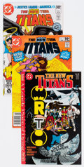 Modern Age (1980-Present):Superhero, New Teen Titans Short Box Lot (DC, 1981-92) Condition: AverageNM-....