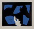 Fine Art - Work on Paper:Print, Charlie Hewitt (b. 1946). Untitled - N, c. 1995. Woodblockin colors on paper. 16 x 20 inches (40.6 x 50.8 cm) (image). ...