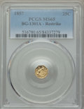 California Fractional Gold , 1857 25C BG-1301A - Restrike MS65 PCGS. PCGS Population: (9/1). ...