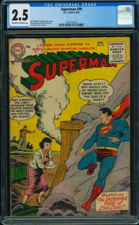 Superman #99 (DC, 1955) CGC GD+ 2.5 OFF-WHITE TO WHITE pages