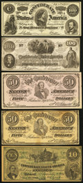 Obsoletes By State:Mixed States, Selection of Confederate Facsimile Advertising Notes used by Furniture and Dry Goods Dealers ca. 1880-1918. Fourteen Examples... (Total: 14 notes)