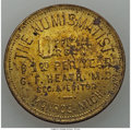 20th Century Tokens and Medals, 1902 MS American Numismatic Association/The Numismatist, Monroe,Michigan, Unc Uncertified. Brass, 35 mm. This piece advert...