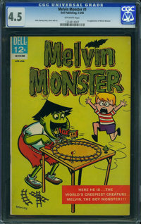 Melvin Monster #1 (Dell, 1965) CGC VG+ 4.5 OFF-WHITE pages