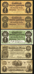 Obsoletes By State:Mixed States, Selection of Confederate Facsimile Advertising Notes used by Jewelers (8), Art Galleries (1), and Numismatic Dealers (4) ca. 1... (Total: 13 notes)