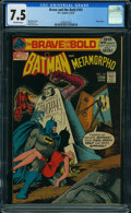 Bronze Age (1970-1979):Superhero, The Brave and the Bold #101 (DC, 1972) CGC VF- 7.5 OFF-WHITE pages.