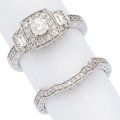 Estate Jewelry:Rings, Diamond, White Gold Rings . ... (Total: 2 Items)