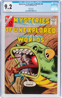Mysteries of Unexplored Worlds #34 White Mountain Pedigree - (Charlton, 1963) CGC NM- 9.2 Off-white pages