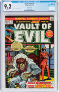 Bronze Age (1970-1979):Horror, Vault of Evil #1 White Mountain Pedigree (Marvel, 1973) CGC NM- 9.2White pages....
