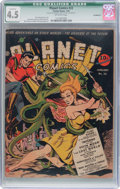 Golden Age (1938-1955):Science Fiction, Planet Comics #22 (Fiction House, 1943) CGC Qualified VG+ 4.5Off-white pages....