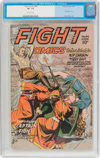Fight Comics #44 (Fiction House, 1946) CGC VF- 7.5 Off-white pages
