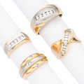 Estate Jewelry:Rings, Diamond, Gold Rings. ... (Total: 4 Items)