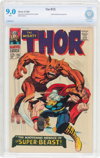 Thor #135 (Marvel, 1966) CBCS VF/NM 9.0 White pages