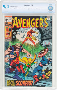 The Avengers #72 (Marvel, 1970) CBCS NM 9.4 White pages