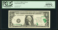 Error Notes:Foldovers, Fr. 1917-G $1 1988A Federal Reserve Note. PCGS Extremely Fine40PPQ.. ...