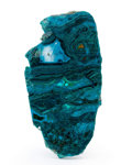 Lapidary Art:Carvings, Polished Chrysocolla Slab. Bagdad Copper Mine. Yavapai County.Arizona, USA. 4.98 x 2.59 x 0.27 inches (12.65 x 6.58 x 0.6...