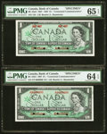 Canadian Currency: , BC-45aS $1 1867-1967 Centennial Commemorative Specimen;. BC-45bS $11967 Centennial Commemorative Specimen.. ... (Total: 2 notes)