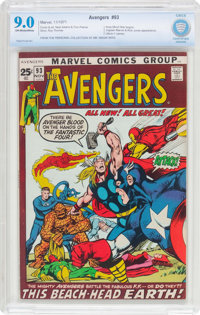 The Avengers #93 (Marvel, 1971) CBCS VF/NM 9.0 Off-white to white pages