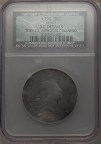 1794 50C O-103, T-10, High R.5 -- Tooled, Improperly Cleaned -- NCS. AG Details....(PCGS# 39203)