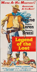 "Movie Posters:Adventure, Legend of the Lost (United Artists, 1957). Three Sheet (41"" X 78"").Adventure.. ..."