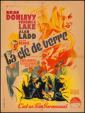"Movie Posters:Film Noir, The Glass Key (Paramount, 1948). French Affiche (23.5"" X 31.25"").Film Noir.. ..."
