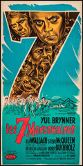 """Movie Posters:Western, The Magnificent Seven (United Artists, 1961). French Affiche (15.75"""" X 31.25""""). Western.. ..."""