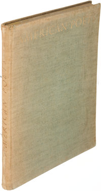 [T. S. Eliot, contributor]. American Poets. Munich: [1923]. First edition, inscribed