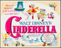 """Movie Posters:Animation, Cinderella & Other Lot (Buena Vista, R-1973). Half Sheets (2)(22"""" X 28""""). Animation.. ... (Total: 2 Items)"""