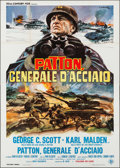 "Movie Posters:War, Patton (20th Century Fox, 1970). Italian 4 - Fogli (55"" X 77.5"")Averardo Ciriello Artwork. War.. ..."