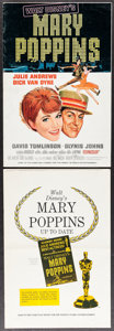 """Movie Posters:Fantasy, Mary Poppins (Buena Vista, 1964). Uncut Pressbooks (2) (Multiple Pages, 12"""" X 18""""). Fantasy.. ... (Total: 2 Items)"""