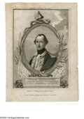 Political:Small Paper (pre-1896), 1780-Dated Engraving of a Youthful-Appearing General George Washington. Engraved by W. Sharp and published in London, it dep...
