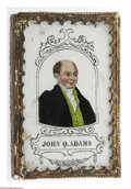 Political:3D & Other Display (pre-1896), Rare C. 1848 John Quincy Adams Patch Box. From the samemanufacturer as the Zachary Taylor example also offered in thisauct...