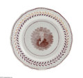 "Political:3D & Other Display (pre-1896), Scarce C. 1824-1828 Andrew Jackson Portrait Pink Luster Plate Thisattractive 8.5"" dinner plate is one of the nicest ""afford..."