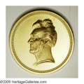 Political:Tokens & Medals, Rare 1833 Andrew Jackson inaugural Medal In Gold. Usually seen in silver, these gold versions are highly desirable. Proof co...