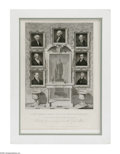 Political:Small Miscellaneous (pre-1896), Very Unusual 1834 Engraving of U.S. Presidents Up Through Andrew Jackson. We have not seen this fine item before. It was eng...