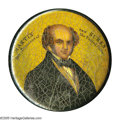 Political:3D & Other Display (pre-1896), Rare and Important Martin Van Buren Papier-Mache Snuff Box Three dimensional display items of any kind for Van Buren are few...
