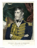 Political:Posters & Broadsides (pre-1896), Rare Early Pre-Presidential Currier Print of a Youthful William Henry Harrison. A most unusual image of him at about the age...