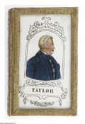 "Political:3D & Other Display (pre-1896), The Finest Zachary Taylor ""Forget Me Not"" Box We Have Ever Seen, inVirtually Mint Condition. The manufacturing company appa..."