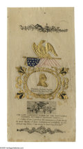 Political:Memorial (1800-present), Highly Distinctive Colorful 1850 Zachary Taylor Memorial Ribbon. With design elements embossed and gilded, as made. Taylor's...