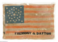 Political:Textile Display (pre-1896), An Extremely Rare and Important Large 1856 Campaign Flag for JohnC. Fremont, the First Republican Presidential Candidate. T...