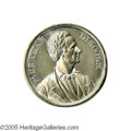 Political:Tokens & Medals, Large Lincoln Split Rails Medal This is certainly one of the better Lincoln medals from 1860, both from a content and grap...