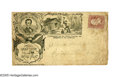 Political:Small Paper (pre-1896), Postally Used 1860 Lincoln & Hamlin Campaign Cover printed onlight yellow with an elaborate design showing Lincoln splittin...