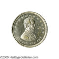 """Political:Tokens & Medals, Honest Old Abe Lincoln Medal 34mm. This may be the best designed of any Lincoln campaign medal. It depicts """"Honest Old Abe..."""