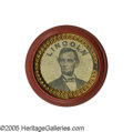 Political:Ferrotypes / Photo Badges (pre-1896), Fabulous Large 1864 Lincoln Ferrotype. One of the largest 1864Lincoln ferro varieties, and definitely the largest on which ...